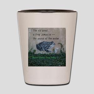 Matsuo basho's frog haiku Shot Glass