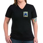 Boue Women's V-Neck Dark T-Shirt