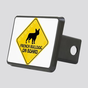 French Bulldog On Board Rectangular Hitch Cover
