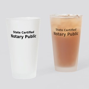 State Certified Notary Public Drinking Glass