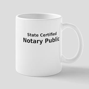 State Certified Notary Public Mug