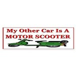 Motor Scooter Bumper Sticker