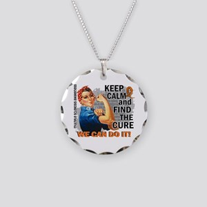 Rosie Keep Calm MS Necklace Circle Charm