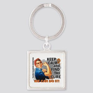 Rosie Keep Calm MS Square Keychain