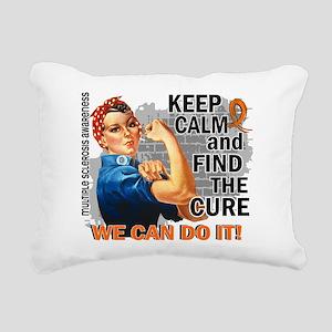 Rosie Keep Calm MS Rectangular Canvas Pillow