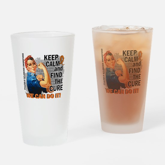 Rosie Keep Calm MS Drinking Glass