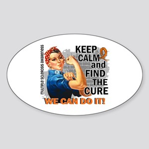 Rosie Keep Calm MS Sticker (Oval)