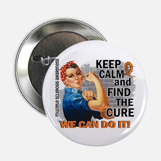 "Rosie Keep Calm MS 2.25"" Button (10 pack)"