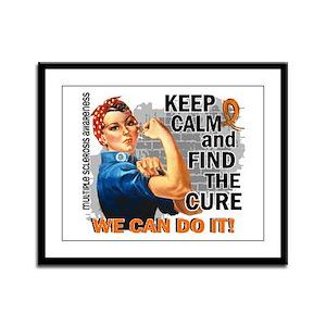 Rosie Keep Calm MS Framed Panel Print