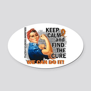 Rosie Keep Calm MS Oval Car Magnet