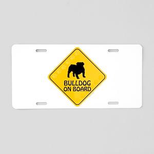 Bulldog On Board Aluminum License Plate