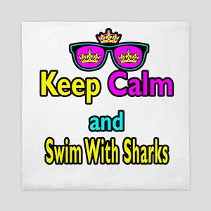 Crown Sunglasses Keep Calm And Swim With Sharks Qu