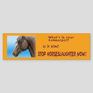 horse burger Sticker (Bumper)