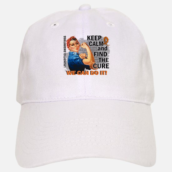Rosie Keep Calm Leukemia Baseball Baseball Cap