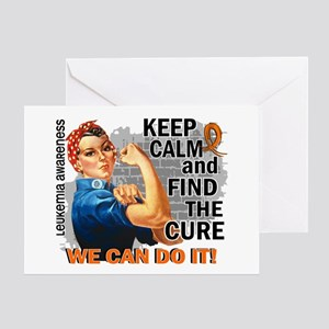Rosie Keep Calm Leukemia Greeting Card