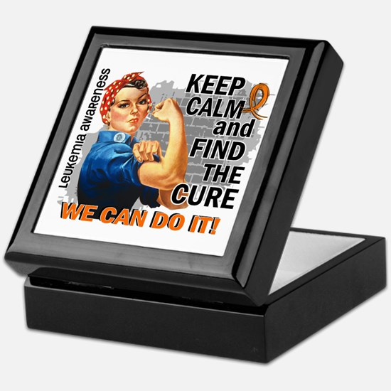 Rosie Keep Calm Leukemia Keepsake Box