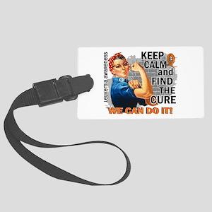Rosie Keep Calm Leukemia Large Luggage Tag