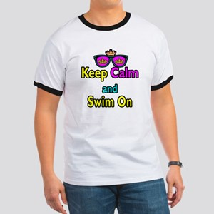 Crown Sunglasses Keep Calm And Swim On Ringer T