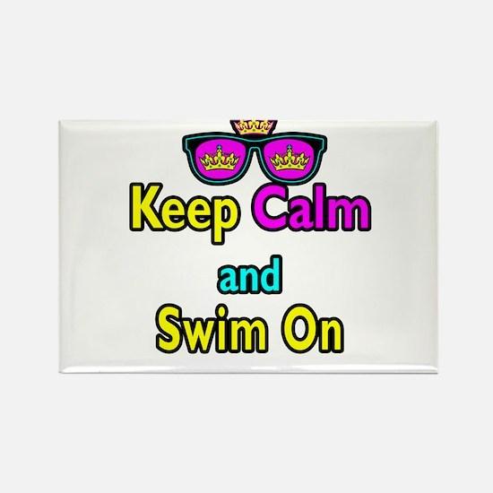 Crown Sunglasses Keep Calm And Swim On Rectangle M