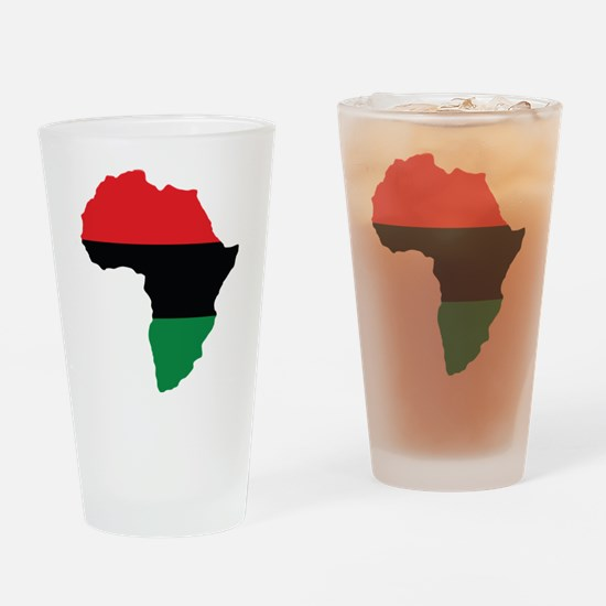 Red, Black and Green Africa Flag Drinking Glass