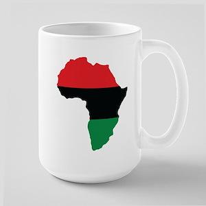 Red, Black and Green Africa Flag Mug