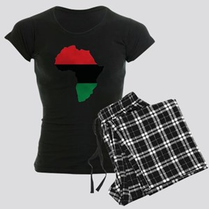 Red, Black and Green Africa Flag pajamas