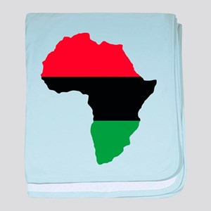 Red, Black and Green Africa Flag baby blanket