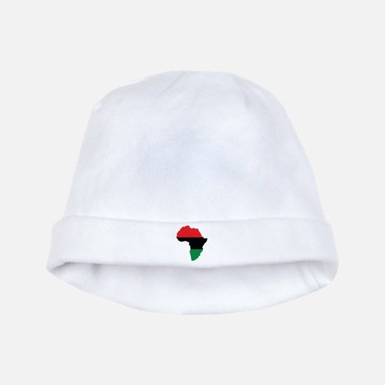 Red, Black and Green Africa Flag baby hat