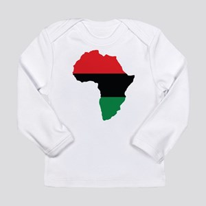 Red, Black and Green Africa Flag Long Sleeve T-Shi