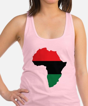 Red, Black and Green Africa Flag Racerback Tank To