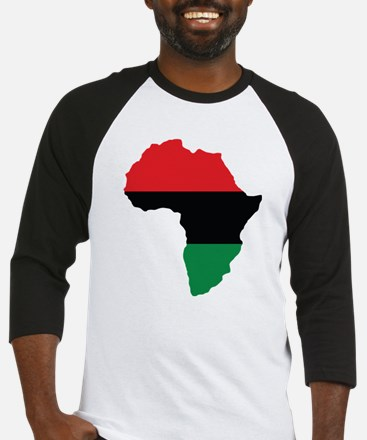 Red, Black and Green Africa Flag Baseball Jersey