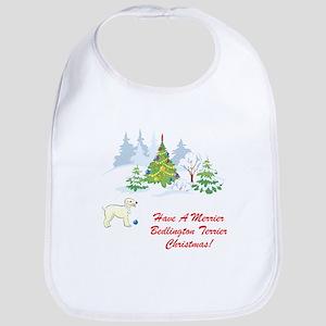 Bedlington Terrier Christmas Bib