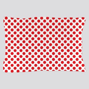 Red Polka Dots Pillow Case