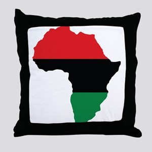 Red, Black and Green Africa Flag Throw Pillow