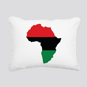 Red, Black and Green Africa Flag Rectangular Canva