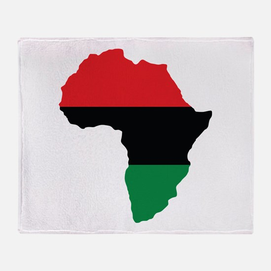Red, Black and Green Africa Flag Throw Blanket