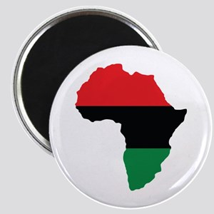 Red, Black and Green Africa Flag Magnet