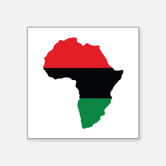 Red, Black and Green Africa Flag Sticker
