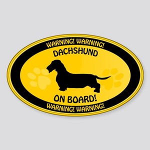 Dachshund On Board 2 Sticker (Oval)