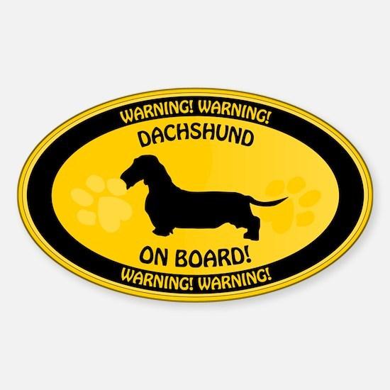 Dachshund On Board 2 Sticker (Oval)