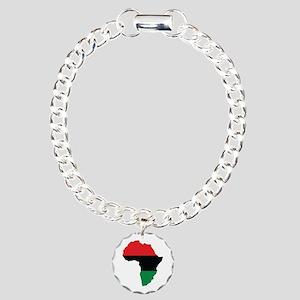 Red, Black and Green Africa Flag Charm Bracelet, O