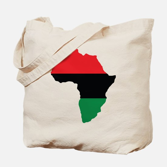 Red, Black and Green Africa Flag Tote Bag