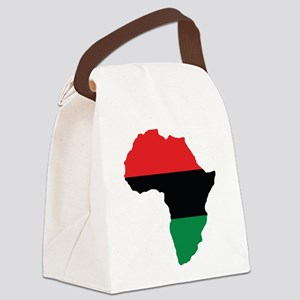 Red, Black and Green Africa Flag Canvas Lunch Bag