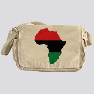 Red, Black and Green Africa Flag Messenger Bag