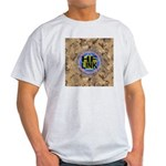 HFLINK Desert Camo Logo (ash grey T-shirt)