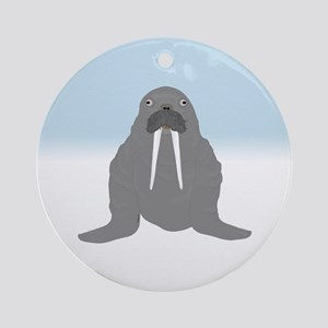 Walrus Ornament (round)
