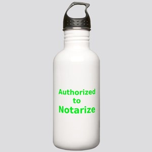 Authorized to Notarize Water Bottle