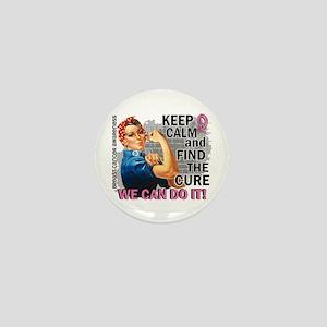 Rosie Keep Calm Breast Cancer Mini Button