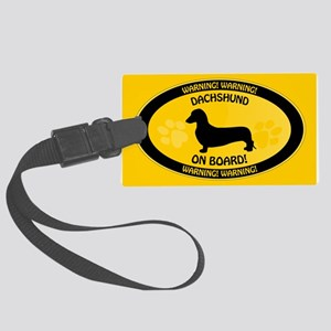 Dachshund On Board 2 Large Luggage Tag