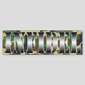 INFIDEL Woodland Camo Sticker (Bumper)